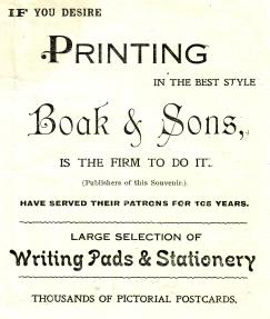 Boak printers aDVERT 1919